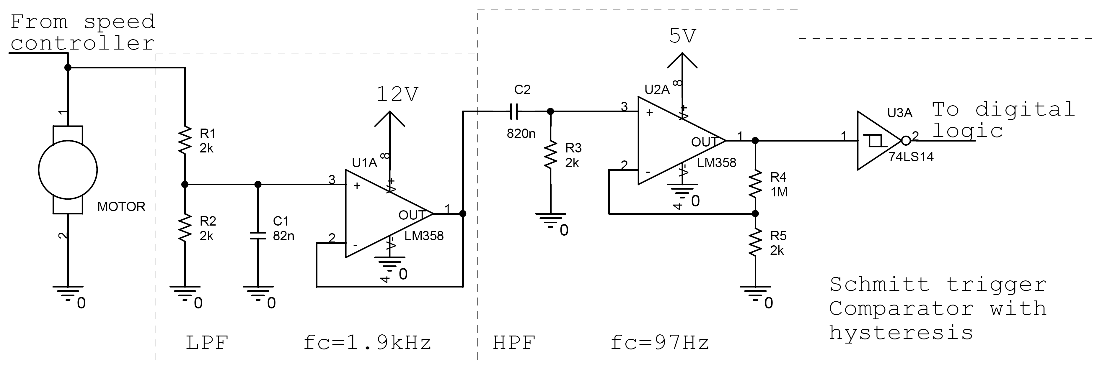 Yi Yao Dc Motor Controller And Tachometer Is The Bidirectional Circuit Which Allows Forward Reverse Speed Detector Schematic